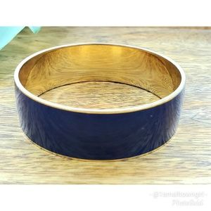 J. Crew blue enameled metal bracelet 8""